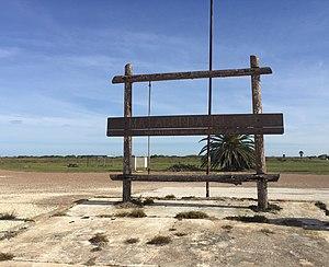 Matagorda Island - Matagorda Island sign