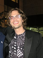 Matthew Gray Gubler takes a pic with Greg2600 in New York City 2017.jpg