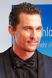A photograph of McConaughey attending the 2014 Goldene Kamera Awards in Berlin
