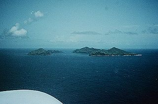 group of three small uninhabited islands