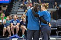 Maya Moore and Lindsay Whalen during warmups in the Minnesota Lynx vs Los Angeles Sparks game.jpg