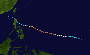 Timeline of the 2015 Pacific typhoon season - Track of Typhoon Maysak during late-March