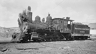McPhee Reservoir - Locomotive, Montezuma Lumber Company, McPhee, Colorado, 1947