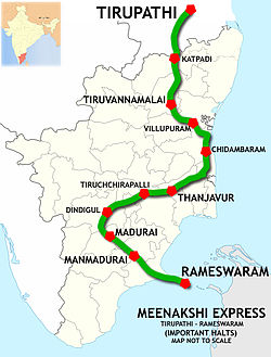Meenakshi Express (Tirupathi - Rameswaram) Route map.jpg