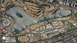 Melbourne Grand Prix Circuit, March 22, 2018 SkySat (cropped).jpg
