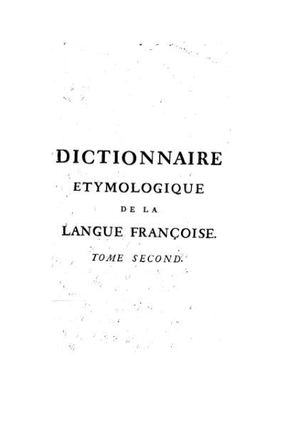 File:Menage - Dictionnaire etymologique, 1750, T2.djvu