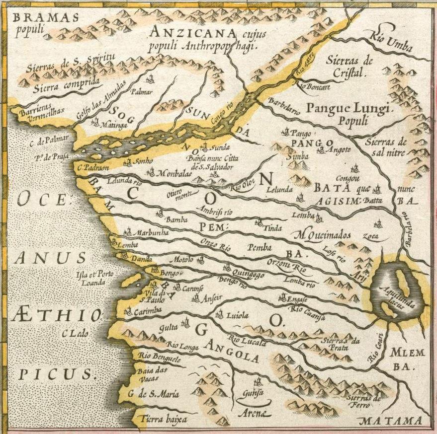Mercator Congo map