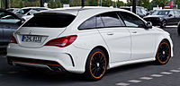 Mercedes-Benz CLA 220 d Shooting Brake OrangeArt Edition (X 117) – Heckansicht, 12. September 2015, Münster.jpg