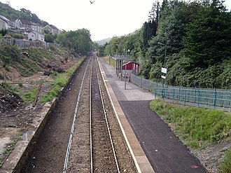 Merthyr Vale railway station - Image: Merthyr Vale railway station