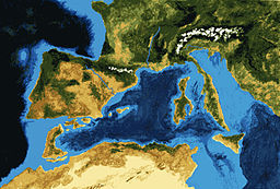 Messinian salinity crisis 6.5 mya stage