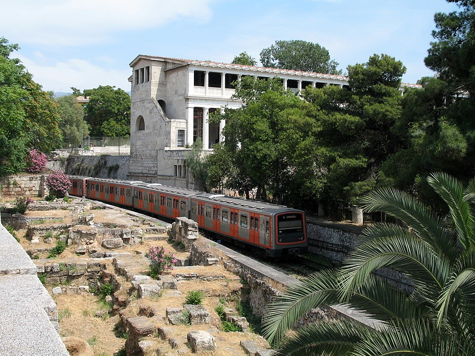 Metro Train in the Agora