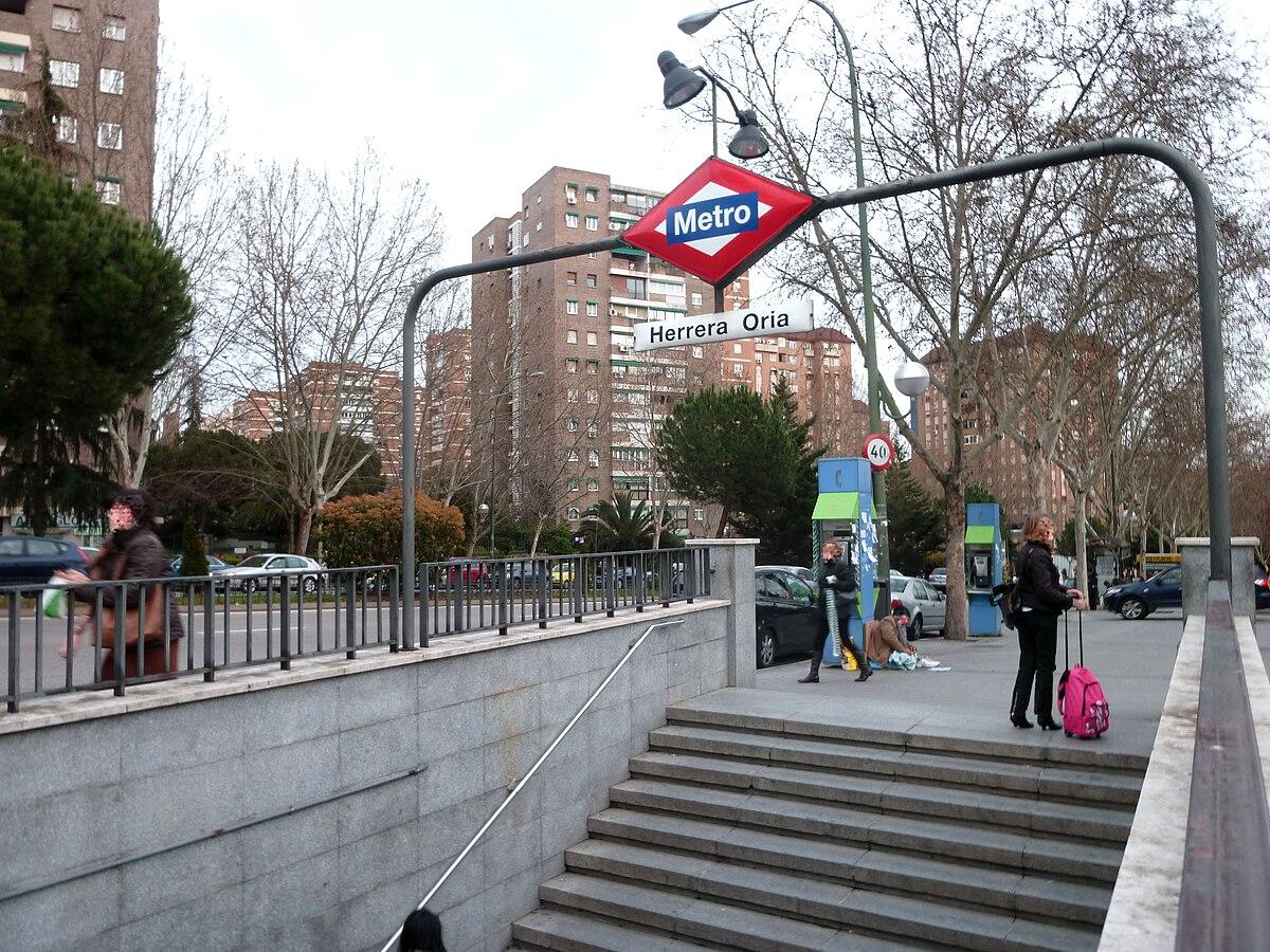 herrera oria madrid metro wikipedia