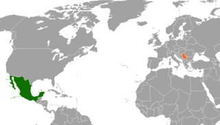 Diplomatic relations between the United Mexican States and the Republic of Serbia