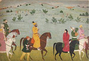 Jasrotia - Mian Mukund Dev of Jasrota, ca (1720-1770).