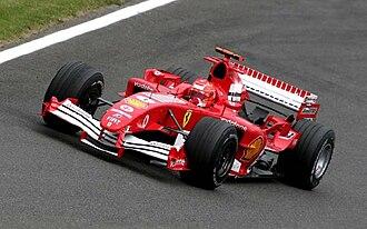 Ferrari F2005 - Image: Michael Schumacher 2005 Britain