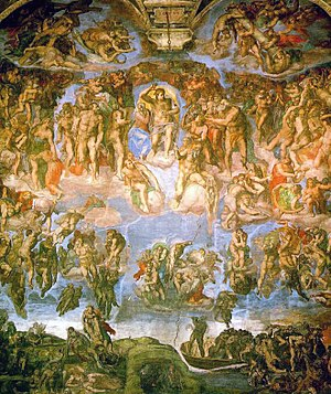 Last Judgement - painted by Michelangelo and h...