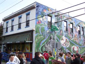 Mifflin Street Block Party - The Mifflin Co-op, as of 2007.