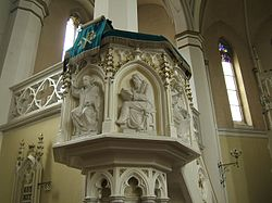 Mikolow protestant church pulpit.jpg