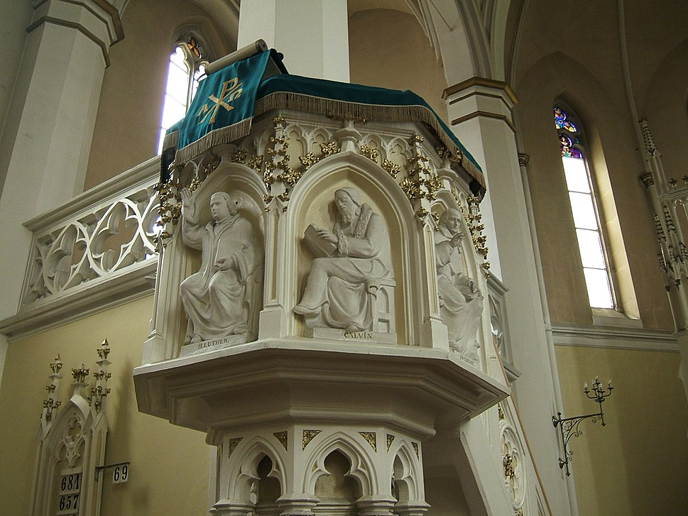 Mikolow protestant church pulpit
