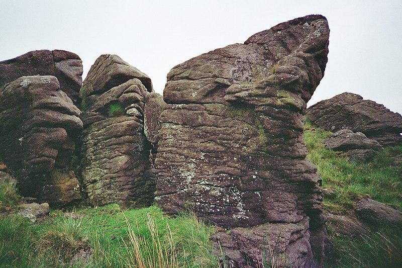 File:Millstone Grit Whelpstone Crag - geograph.org.uk - 1704698.jpg