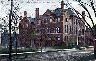 Riverside University High School - East Side High School, 1908 German postcard