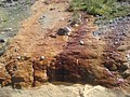 Mineral deposits at Clogau Mawr - geograph.org.uk - 537460.jpg