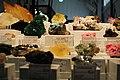 Minerals at the Whittier gem show, drusy quartz, malachite, rhodonite (4716204960).jpg
