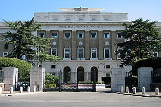 Italian Air Force - Palazzo dell'Aeronautica, headquarters of the Italian Air Force.