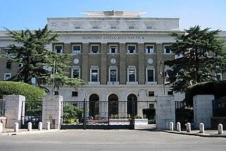 Italian Air Force - Palazzo dell'Aeronautica, headquarters of the Italian Air Force.