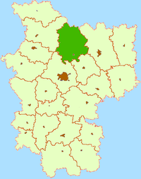 Location of Logoisk Raion