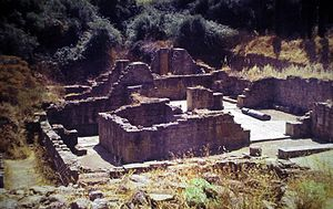 Miróbriga - A partial view of the Thermae of Miróbriga