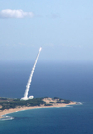 Pacific Missile Range Facility - Target ballistic missile launch from Barking Sands, to test SM-3 missile interception
