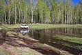 Mitsubishi Pajero Sport runs through spring puddle 10.JPG