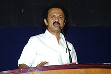 MK Stalin, the younger brother of Azhagiri