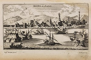 History of coffee - Dutch engraving of Mocha in 1692
