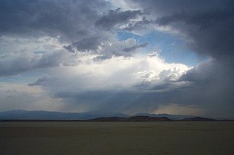 El Mirage Lake - Image: Mojave Summer Storm