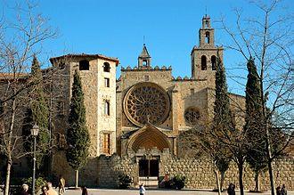 Monastery of Sant Cugat - Façade of the monastery.