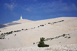 Mont Ventoux - South side of the summit of Mont Ventoux