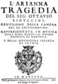 Monteverdi - L'Arianna - title page of the libretto, Mantua 1608.png