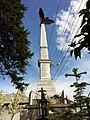 Monumentul Eroilor de la Pucheni - vedere din curtea bisericii.JPG