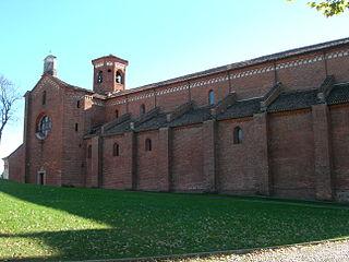 Morimondo Abbey church building in Morimondo, Italy