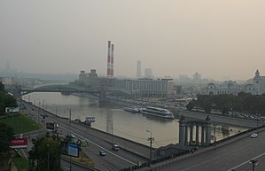 2010 Russian wildfires - Smoke of the wildfires over Moscow.