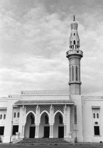 Islam in Somalia - The Mosque of Islamic Solidarity in Mogadishu is the largest masjid in the Horn region.