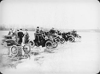 Ice racing - Automobile ice racing in the late 19th century.