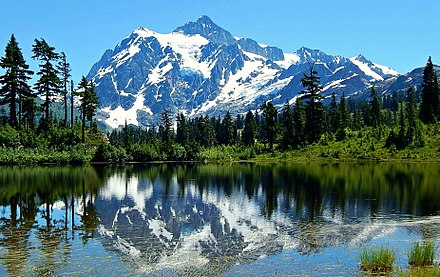 Mount Shuksan Mount Shuksan reflected in Picture Lake.jpg
