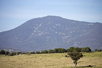 Mount Tennent - Mount Tennent, viewed from Point Hut Road.