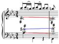 Mozart - Symphony K.453, Mozart fifths.png