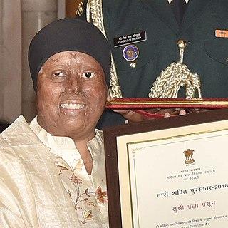 Pragya Prasun Indian founder of NGO supporting survivors of acid attacks