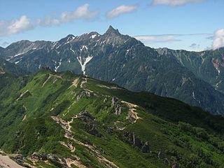 Mount Yari mountain in Nagano Prefecture, Japan