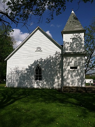 Battle of Mount Zion Church - Mt. Zion Church from the west